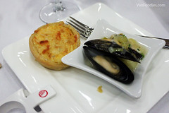 Tourte a la Brandade and Mediterranean Mussel Brasucade