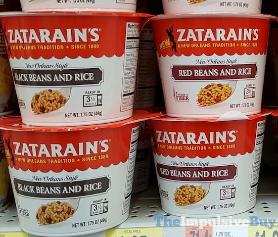 Zatarain's Black Beans and Rice and Red Beans and Rice Cups