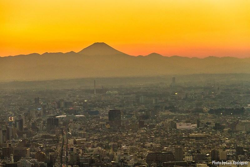El monte Fuji desde Tokio