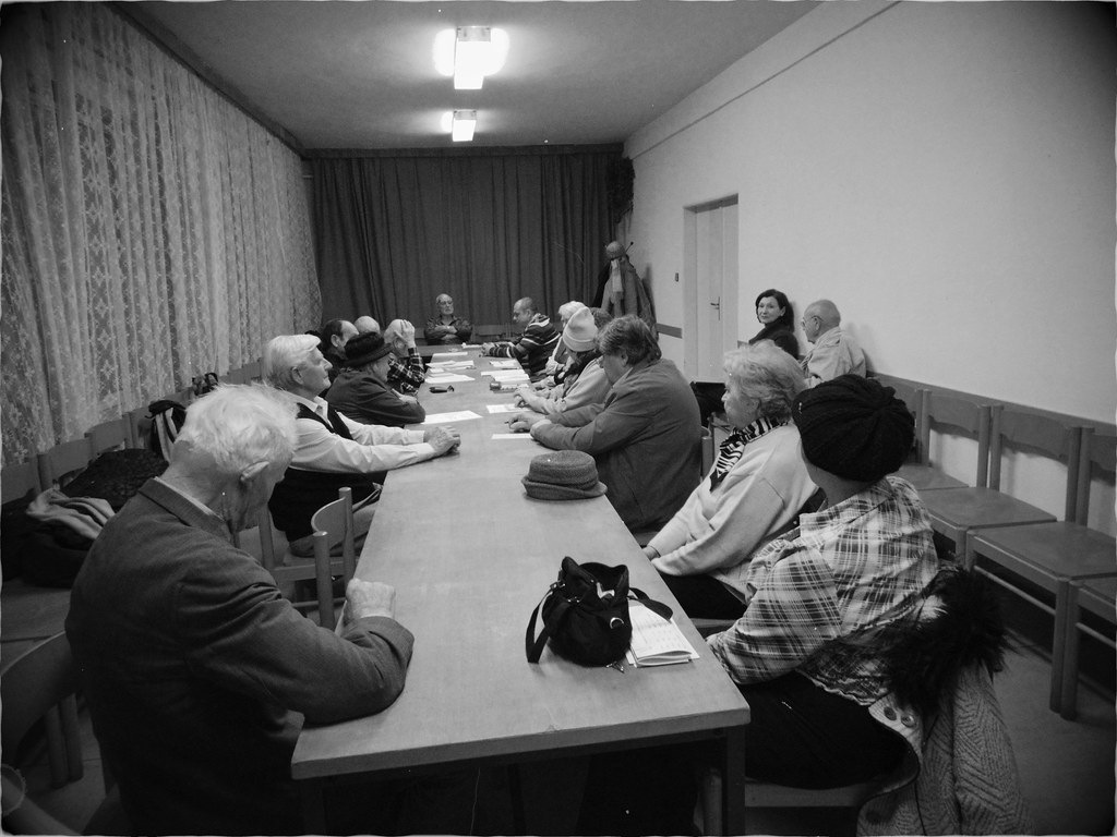 Meeting of a Local Communist Party Organization (B&W)
