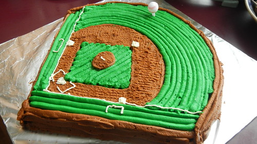 Pleasant Baseball Diamond Birthday Cake Ali Does It Herself Personalised Birthday Cards Epsylily Jamesorg