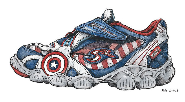 captain america shoe