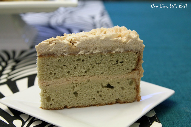 matcha chestnut cake_slice