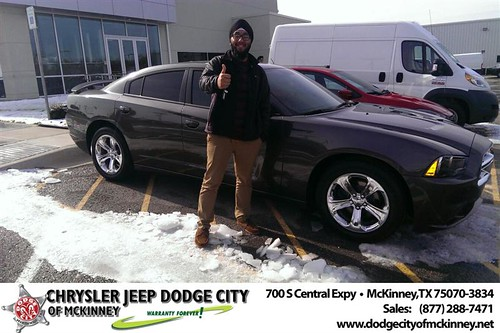 Thank you to Gursimar Anand on your new 2013 #Dodge #Charger from Joe Ferguson  and everyone at Dodge City of McKinney! #NewCarSmell by Dodge City McKinney Texas