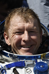 Tim Peake after landing