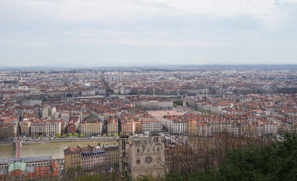 Saint-Jean et Bellecour depuis Fourvière