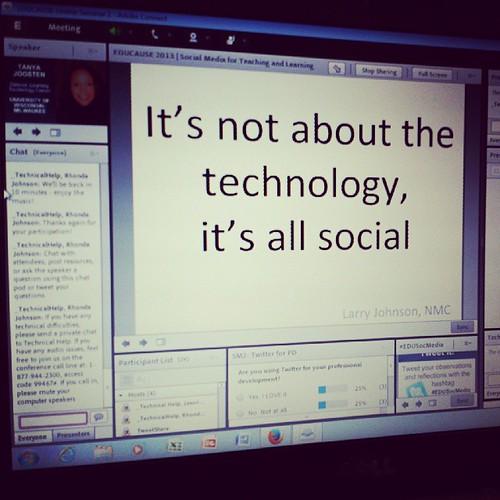 Let's get social #edusocmedia ....its not the tech #edu13