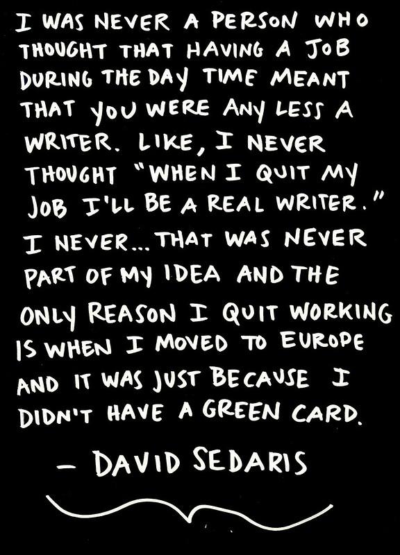 David Sedaris on Day Jobs