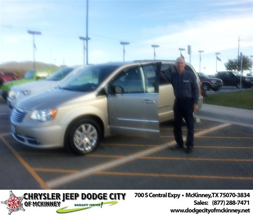 Happy Anniversary to Dale R Strohmeyer on your 2013 #Chrysler #Town And Country from Brent Villarreal  and everyone at Dodge City of McKinney! #Anniversary by Dodge City McKinney Texas