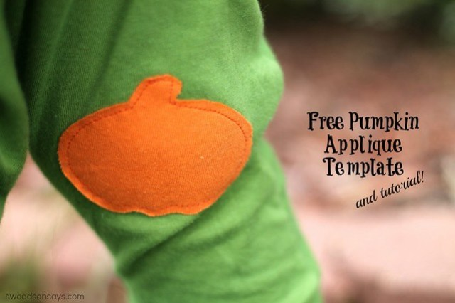 Free Pumpkin Applique