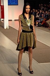 Golden short dress  - Intermoda Trends