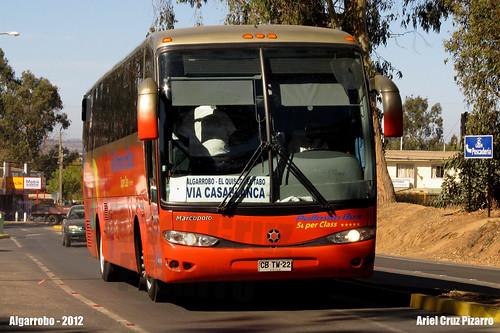 Pullman Bus Costa Central - Algarrobo (Chile) - Marcopolo Viaggio 1050 / Mercedes Benz (CBTW22)