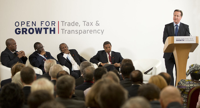 David Cameron at the G8 Trade, Tax & Transparency event at Lancaster House