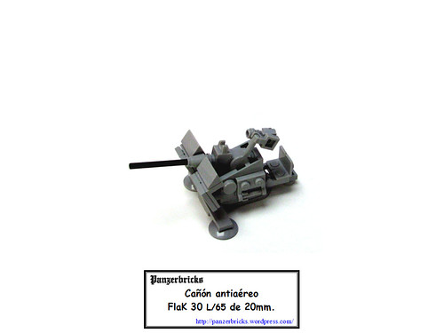 FlaK 30 de 20mm. de Panzerbricks