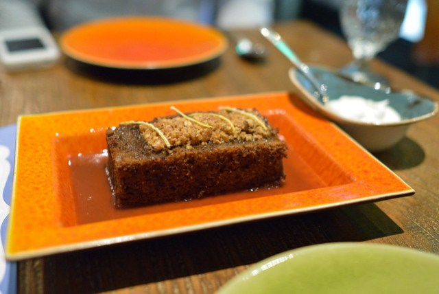 """""""Sticky Toffee Pudding"""" - Date Cake, Toffee, Candied Orange"""