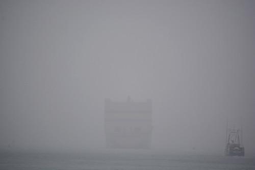 ghostly Mokihana and fishing boat