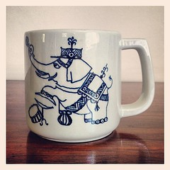 Vintage Wimblad Nymolle Circus Elephant Mug.