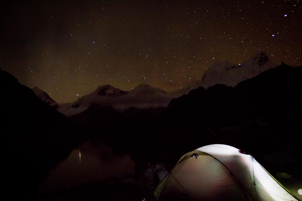 Thank you, good night! Yanapaccha basecamp. Cordillera Blanca. Peru.