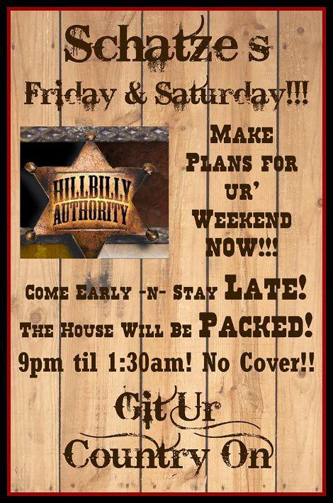 Hillbilly Authority 11-8, 11-9-13