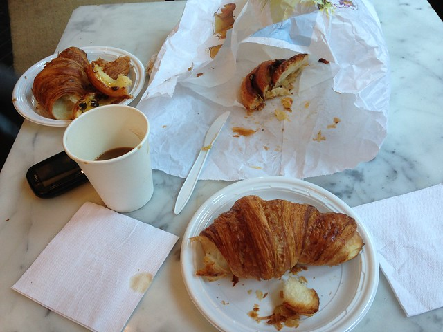 Croissant feast at Almondine