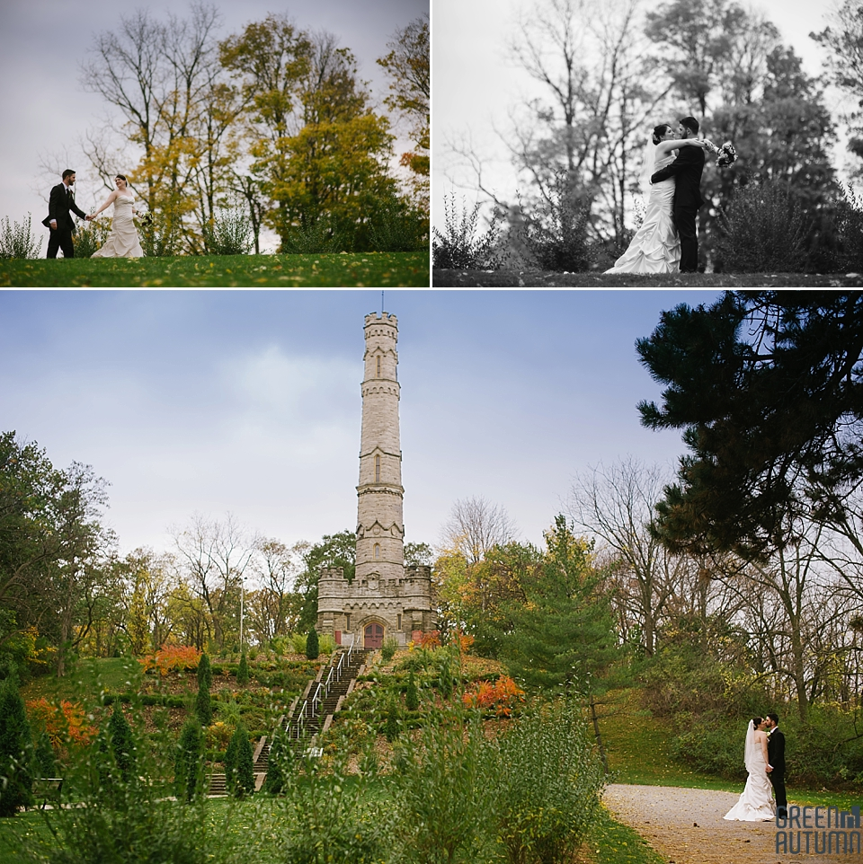 Autumn Stoney Creek Battlefield Monument Wedding Photography