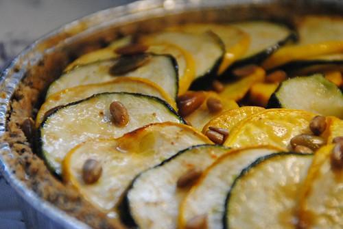 courgette spelt tart poppyseed seeds