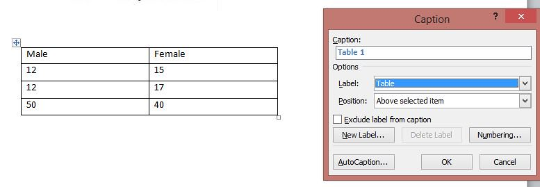 How to insert Table of Content for Figures, Charts in Word