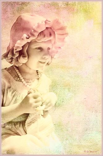 Knitting Girl Scuplture from the Lightner Museum image