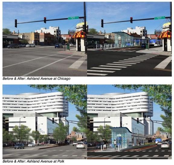 Ashland BRT renderings by CTA