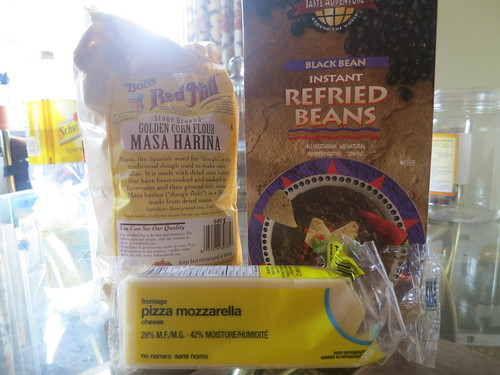 Black bean and cheese pupusas