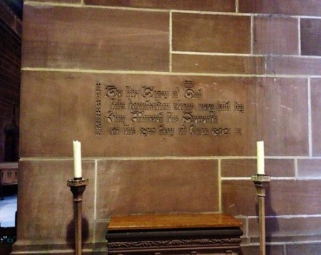 Foundation Stone, Liverpool Cathedral