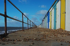 20131029-07_After October Storms _ Railings + Beach Huts - Milford on Sea