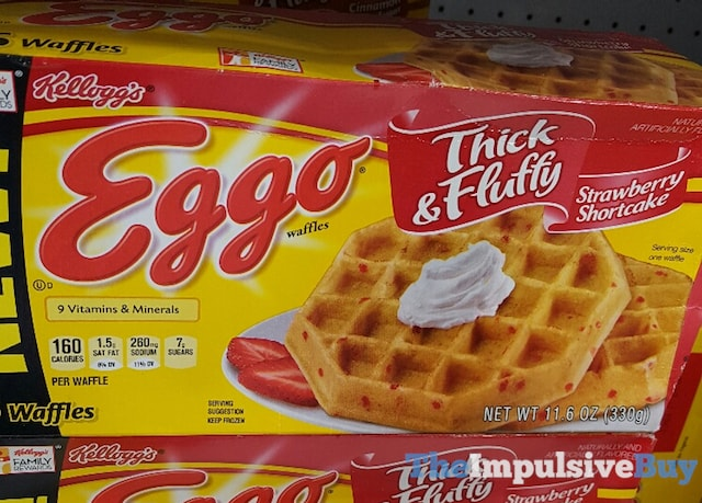 Kellogg's Thick & Fluffy Strawberry Shortcake Eggo Waffles