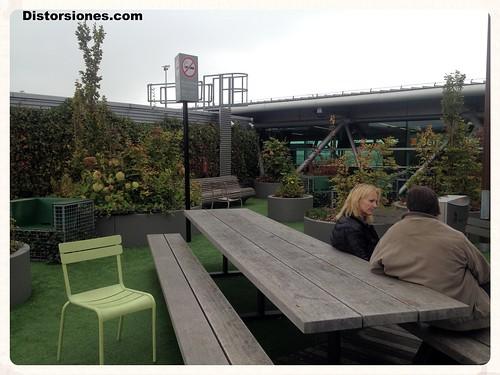 Terrazas para no fumadores en Schiphol