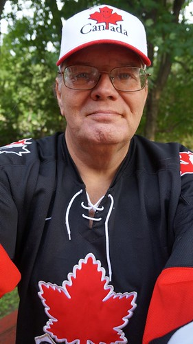 me on my back deck - HAPPY CANADA DAY by gnawledge wurker