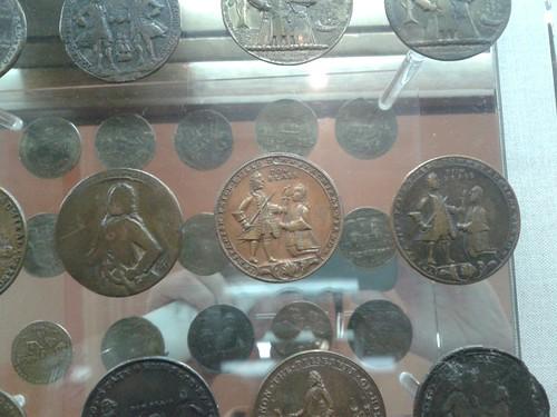 Monedas de la batalla en Cartagena de Indias. 1741