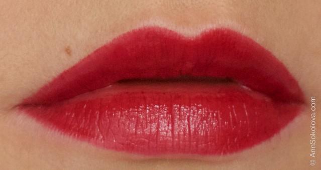 12 Avon   Ultra Colour Indulgence Lipstick   Red Dahlia swatches
