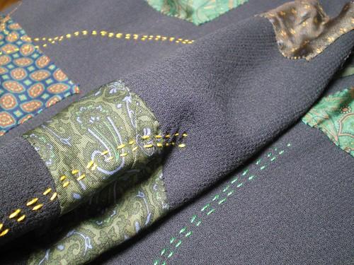 Carré laine soie