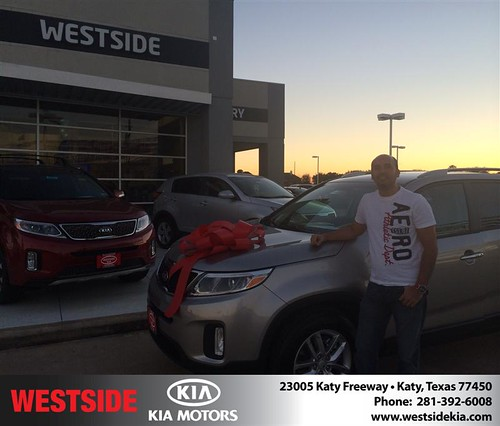Thank you to Jorge Castro on your new car  from Orlando Baez and everyone at Westside Kia! by Westside KIA