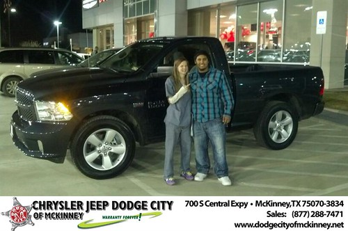 Thank you to Jose Segovia on your new 2014 #Ram #1500 from Bobby Crosby and everyone at Dodge City of McKinney! by Dodge City McKinney Texas
