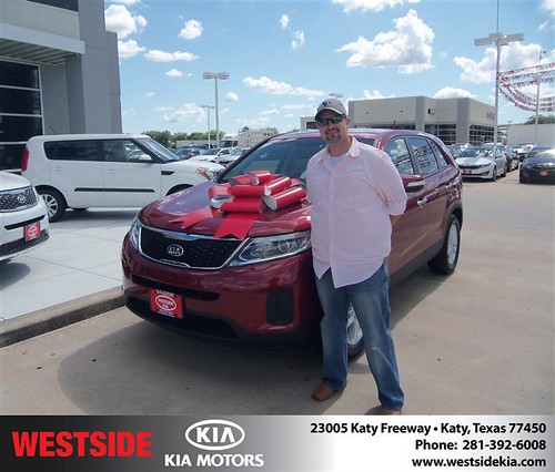 Westside Kia would like to say Congratulations to John Greene on the 2014 Kia Sorento from Gilbert Guzman by Westside KIA