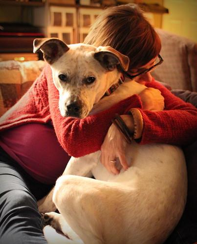 20131207. Birdie hugs.