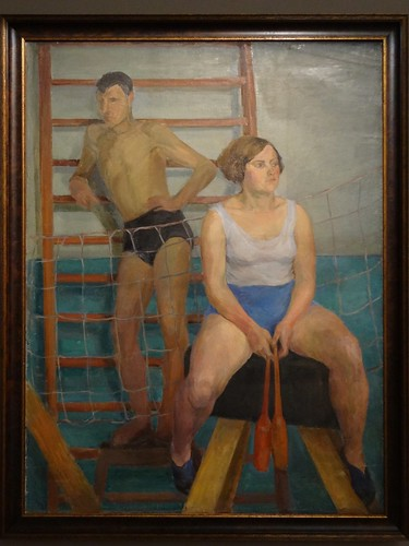 In a sports hall, by Olga Vaulina. (1930s).
