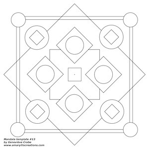 Mandala template number 13