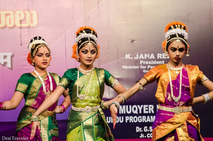 school girls Kuchipudi dance Numaish