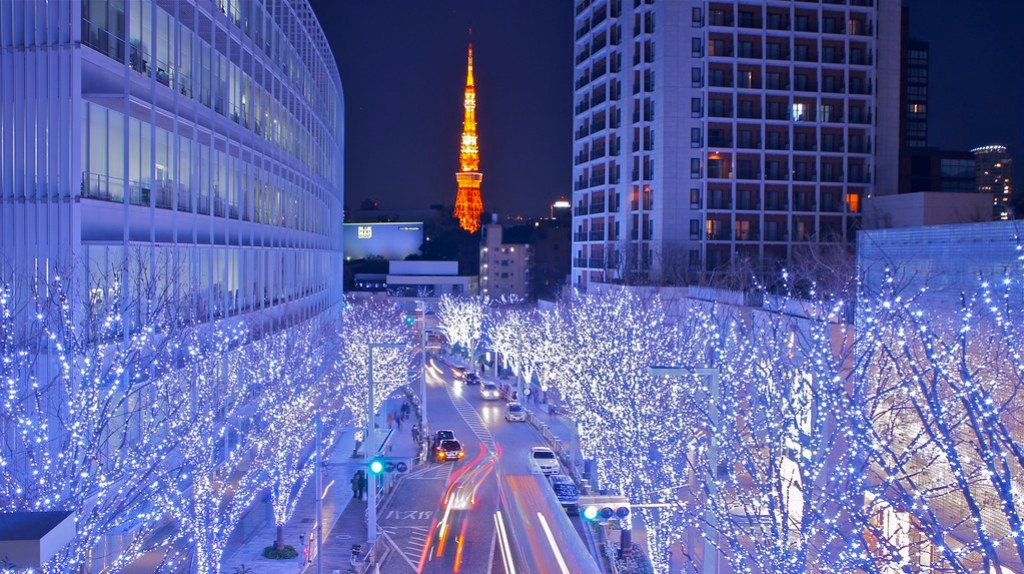 Tokyo Tower and Roppongi Christmas illumination