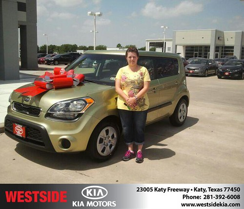 Thank you to Amy Raabe on the 2013 Kia Soul from Gil Guzman and everyone at Westside Kia! by Westside KIA