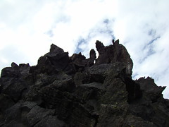 Cascade Peaks, weird tower, lava flows, and other things seen at the top of McKinsey Pass - Sept. 4th 2013