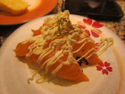 Salmon with Mayo and Onions