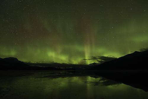 Dancing Aurora over Kalum Lake
